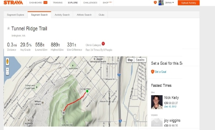 strava challenge 1 tunnel ridge