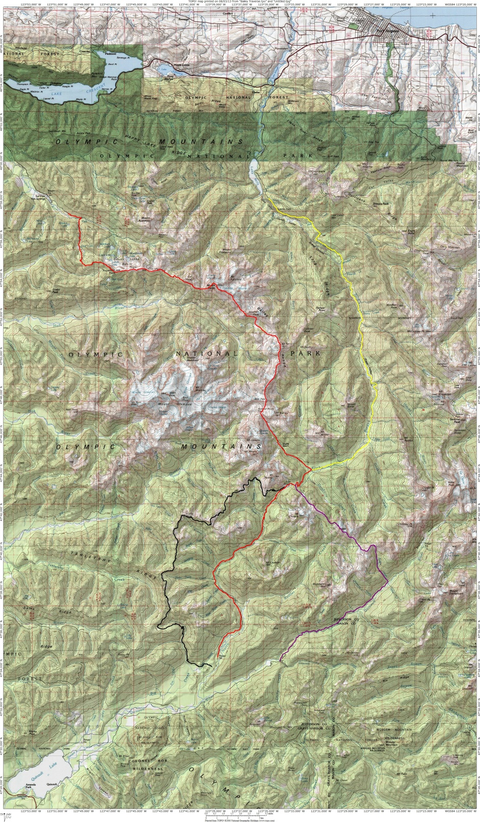 Bailey Traverse(traditional)Map 100k scale
