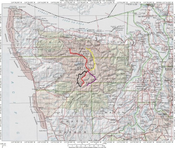 Bailey Traverse(traditional)Map large scale