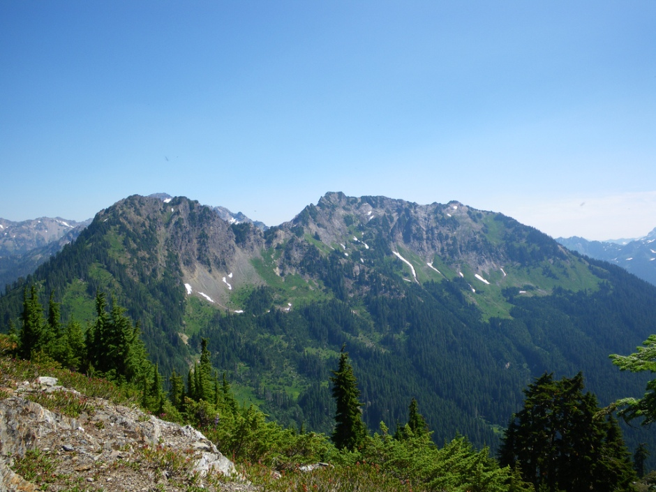 The Pyrites, the Last mountains in the Quinault Traverse.